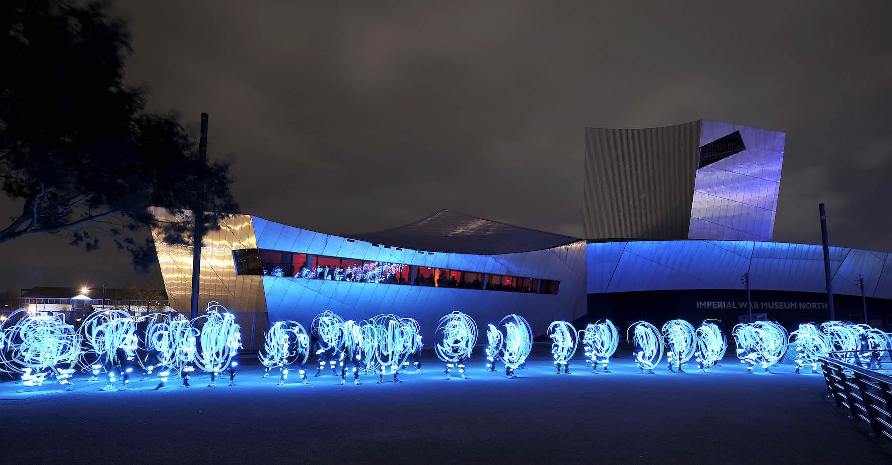 Speed of Light by NVA - outdoor performance at MediaCityUK 2013